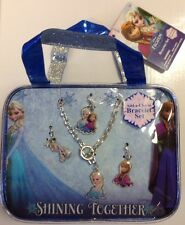 NWT! Disney Frozen Add-a-Charm Bracelet Set 4 charms and Bonus Bag great gift =