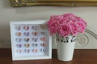 HANDMADE WALL HANGING PICTURE HEARTS IN 3D BOX FRAME SHABBY CHIC VINTAGE GIFT