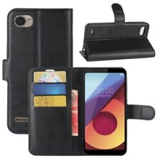 Protector Cover Black For LG Q6 2017 Book Cover Case New Case Wallet Flip