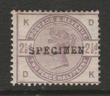 Great Britain 1883 2½d Lilac opt. 'SPECIMEN' SG 190s Mint.