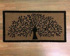LARGE DOORMAT DOOR MAT TREE OF LIFE OUTDOOR FRONT RUG COCONUT FIBRE 90 x 45cm