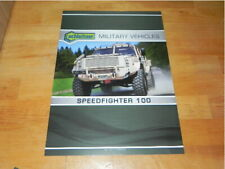 Achleitner Speedfighter 100 Military Vehicles 2016 Brochure Prospekt Katalog