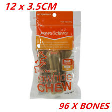 24 x PACK of 112g Smokey Beef Rawhide Dog Chews Puppy Dog Treats Raw Hide Chips