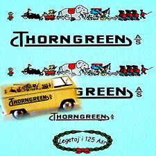 VW T1 Kasten Thorngreen Spielwaren for Tekno Model 1:43 Decal Abziehbild