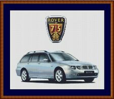 Rover 75 Tourer Estate Cross Stitch Chart Rover Cross Stitch Chart lightblue