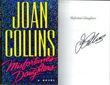Joan Collins SIGNED AUTOGRAPHED Misfortune's Daughters HC 1st Edition 1st Print