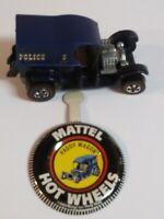 Original Hot Wheels 1970 Redline PADDY WAGON WITH BUTTON - BLUE- #218