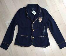 NEWHTF Polo Ralph Lauren GirlsKnit Cotton-Blend Blazerjacket Navy Size 16 XL