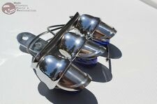 Custom Blue Tri Mini Marker Visor Outside Light Tree Bolt On Hot Rat Rod Truck