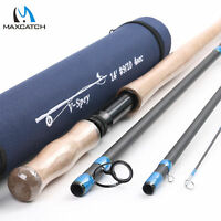 Maxcatch Spey/Switch Fly Rod 6/7/8/9/10WT 4/6Sec Two-handed Fishing Rod W/ Tube