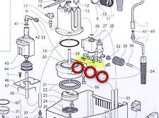 Gaggia Classic, Baby, Evolution 3 Solenoid O-Rings, Silicone WGADM0041/022