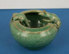 Rare encrier à décor de deux souris en porcelaine de Chine Céladon