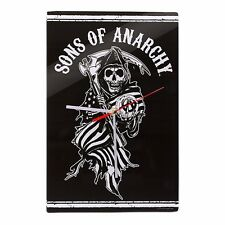 99869 SONS OF ANARCHY SOA BLACK REAPER GLASS WALL CLOCK TIME GIFT IDEA