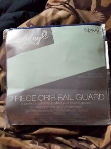Everyday Kids 2 Piece Crib Rail Guard NAVY