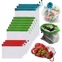 Reusable Grocery Shopping Bags Eco Friendly Fruit Vegetable Mesh Washable String