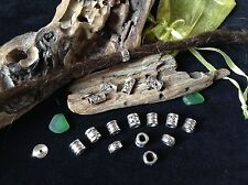 Dreadlock Beads **CUTE MINI MIX PACK** 16 x Silver Dread Beads 4-6mm Hole Cute