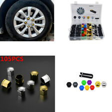 100 x Wheel Screw Covers+5Removal tool Trim Tyre Wheel Nut Screw Bolt Covers Cap