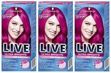 Schwarzkopf Live Ultra Brights 093 Shocking Pink Semi-permanent Hair Dye X1
