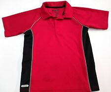 TONY HAWK Boy's Polo Shirt size 7 Red & Black S/S Cool Mesh-Like Polyester