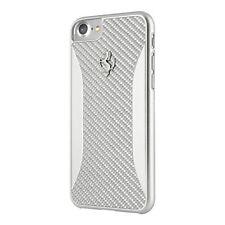 Ferrari GT Carbon Fiber Hard Case for iPhone 7 (Silver)