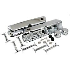 Chrome Ford Valve Cover Dress Up Kit 62-85 SBF 260 289 302 351W 5.0 Small Block
