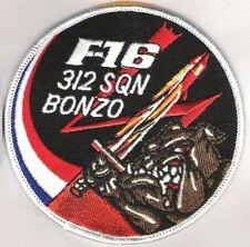 FIGHTING FALCON F-16 SWELL PATCH: Koninklijke Luchtmacht KLu RNLAF 312 SQN BONZO