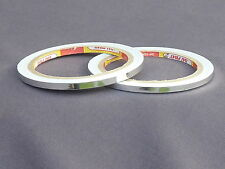 SILVER SOLID 5MM X 20M SELF ADHESIVE PIN STRIPE VINYL TAPE / CAR STYLING