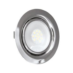 Mini Faretto Led Da Incasso Rotondo CROMATO 1.8W 12V Bianco Naturale Foro 50 mm