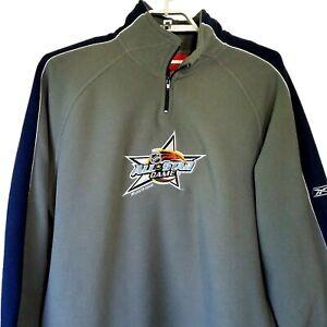Reebok Face Off Men's Gray Blue 1/4 Zip 2008 NHL All Star Game Fleece Pullover L