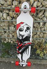 "Longboard 41 LED DROP RACE ABEC 11 Totenkopf  Skateboard ""Hohe Qualität"" 43912"