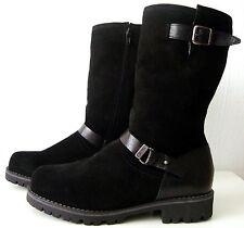 ESPRIT Damen Stiefel Leder Boots Wadenhohe Winterstiefel Schwarz Gr.37 NEU
