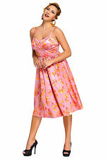 Abito Stampa Floreale Ballo Cocktail Cerimonia Top Floral Vintage Swing Dress M