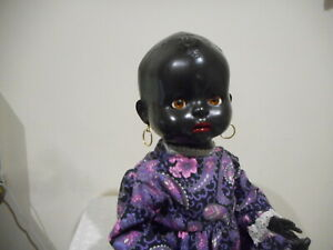 PEDIGREE  20 IN  BLACK BENT LEG BABY (RARER MOLDED HEAD) FREE POSTAGE