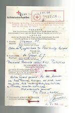 1943 Holland toTel Aviv Palestine Letter cover via Red Cross Switzerland Judaica