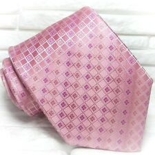 Cravatta rosaNuova  100% seta Top quality realizzata a mano marca TRE