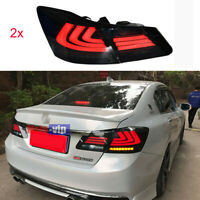 For 2013-2015 Honda Accord Dark Red LED Rear Lights Assembly Tail Lamps