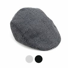 Fall-Winter Herringbone Pattern Newsboy Ivy Hat (H9414)