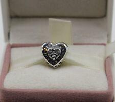 AUTHENIC PANDORA  Logo Heart Charm 797375CZ   #1329
