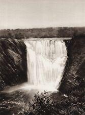 1925 Vintage CANADA ~ Metis River Falls Quebec Waterfalls Landscape Mont Joli
