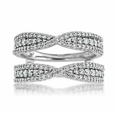 Engagement Ring 14k White Gold Over 2.05 Ct Round Cut Solitaire Enhancer Wrap
