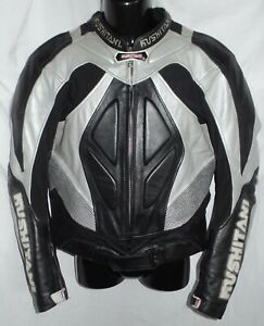 Kushitani Hamamatsu Motorrad Racing Racer Leder Jacke Protektoren Gr. 52 L