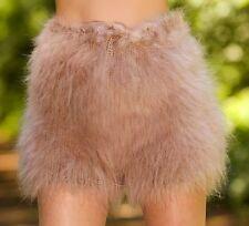 SUPERTANYA BEIGE Hand Knitted Mohair Pants Fuzzy Handmade Shorts Underwear SALE