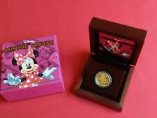 2014 Niue DISNEY Characters MINNIE MOUSE $25 Gold OGP #493/1000