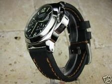 22mm NEW COW Black LEATHER STRAP Watch BAND PANERAI PAM 22 Copper Stitch X1
