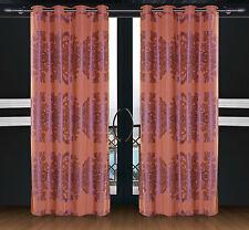 Dolce Mela Damask Window Treatments Luxury Grommet Panel Drapes, Areon DMC463