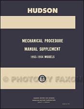 1953 1954 Hudson Shop Manual Hornet Wasp Super Jet Repair Service Book