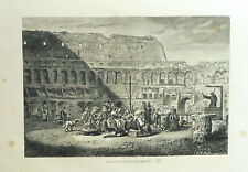 1877: ROMA, PREDICATORI DENTRO IL COLOSSEO.Xilo o in Passepartout ETNA