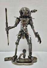 Predator Alien Handmade Scrap Metal Car Parts Art Metal Figure 7.75 in