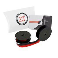 Olivetti Valentine Typewriter Ribbon Red/Black & Plain Black with Metal Eyelets