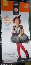 Rockstar Witch Child COSTUME Size Small 4-6x